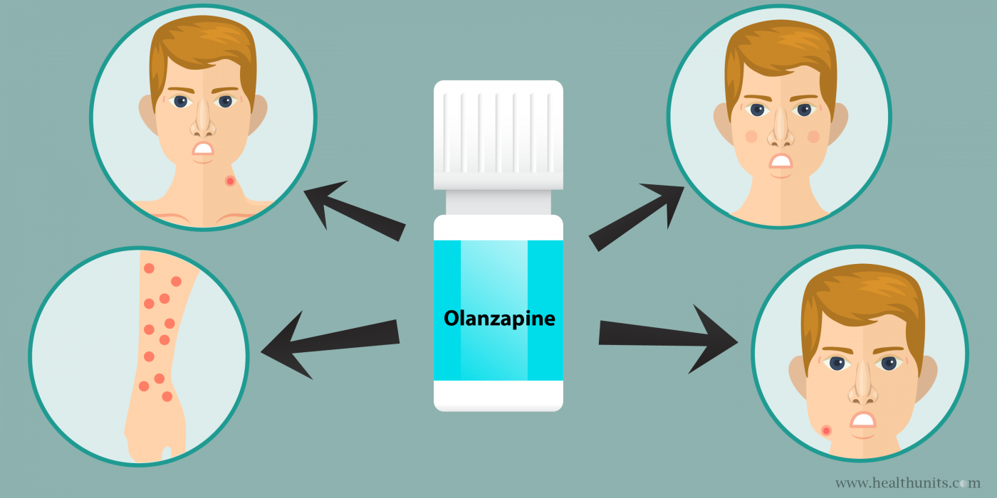 Warning severe skin reactions can occur with olanzapine