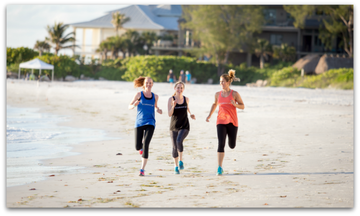 Fit Bottomed Girls jogging for perfect body