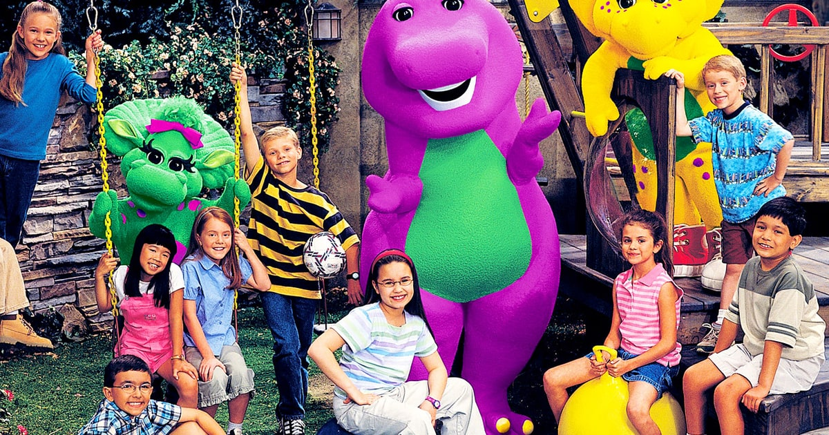 Barney and Friends, with a young Demi Lovato sitting in the center