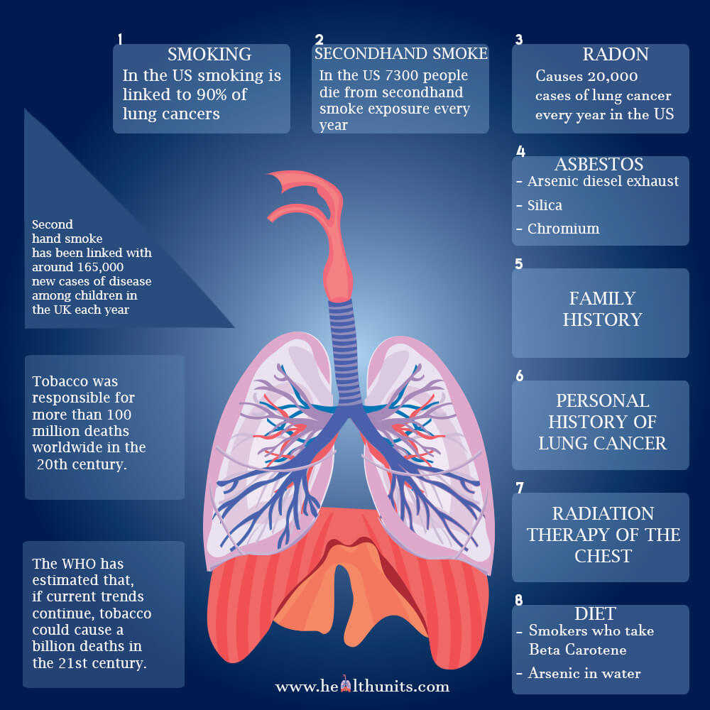 does smoking cause lung cancer Smoking tobacco is the number one risk factor for lung cancer, accounting for nearly 90 percent of all cases, according to the cdc tobacco and tobacco smoke contain more than 7,000 chemicals.